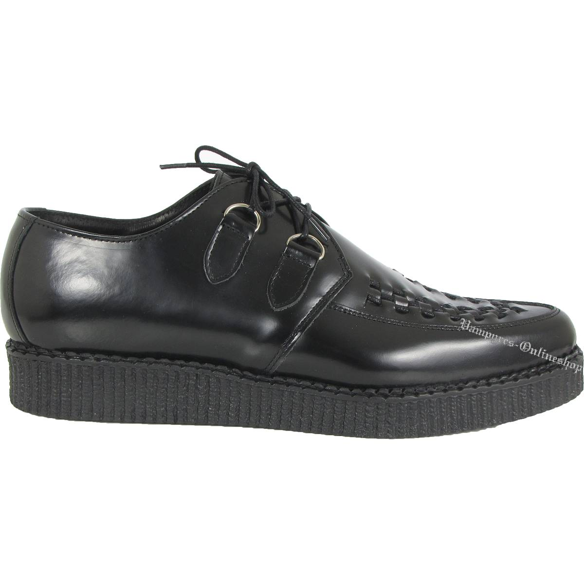 creepers A metal frame with a spike or spikes, attached to a shoe or boot to prevent slipping, especially on ice. 7. Slang A person who is a creep, especially one who is considered to be unsettling.