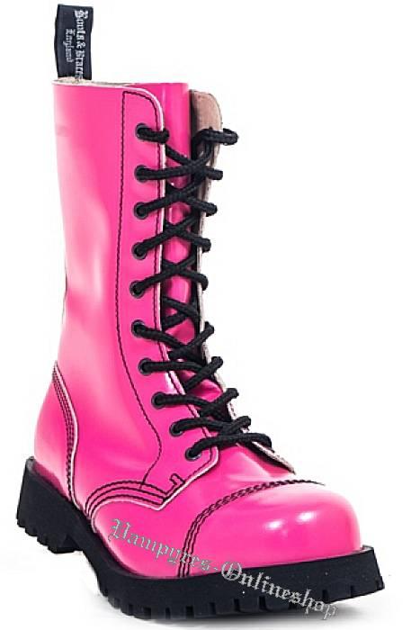 boots and braces stiefel 10 loch pink hot colour rangers schuhe stahlkappen neu. Black Bedroom Furniture Sets. Home Design Ideas