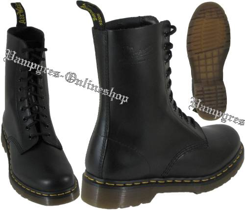 dr martens 10 loch stiefel 1490 smooth schwarz docs boots. Black Bedroom Furniture Sets. Home Design Ideas