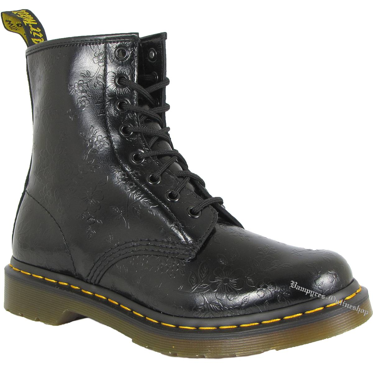 dr martens 8 loch 1460w qq flowers 11821018 schwarz docs boots doc schuhe neu ebay. Black Bedroom Furniture Sets. Home Design Ideas