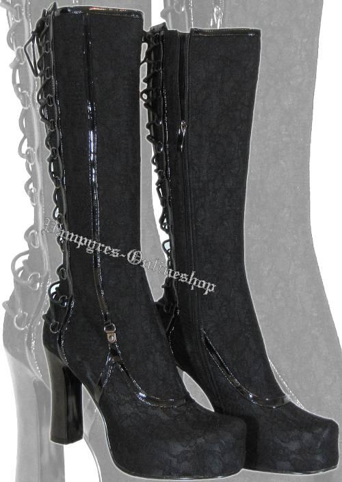 inamagura gael schwarz gothic plateau stiefel rv neu ebay. Black Bedroom Furniture Sets. Home Design Ideas