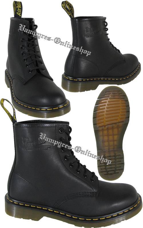 e64c35dc1349cf Dr. Martens 8-Loch 1460 Greasy Harvey Matt Schwarz Docs Stiefel ...